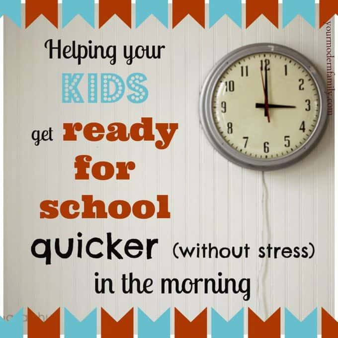 Helping kids get ready for school quicker in the morning