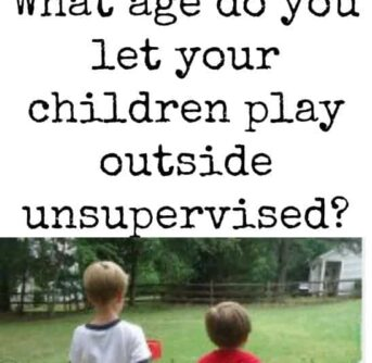 100 moms answered…. best age to let kids play outside alone?
