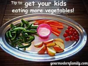 Getting your kids to eat more vegetables