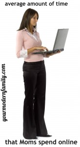 isolated woman with laptop