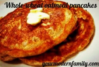 HEALTHY WHOLE WHEAT PANCAKES (MADE IN A BLENDER!