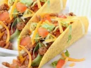 A plate of  Tacos.