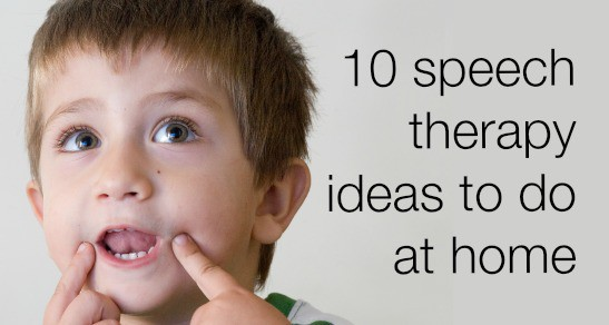 10 speech therapy ideas