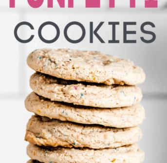 3 ingredient funfetti cookies
