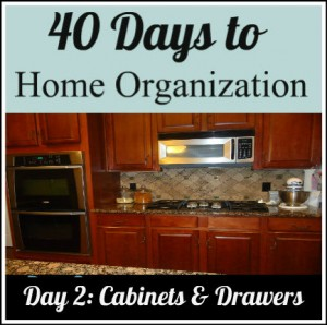 organize your cabinets and drawers