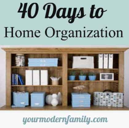 40 days of organization Organizing home