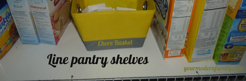 Organize your pantry line shelves