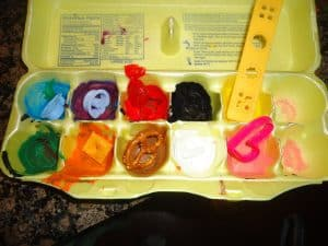 Egg carton color sorting