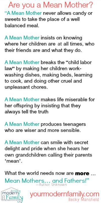 a mean mother