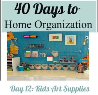 Organizing kids art supplies 1