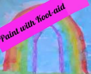 Make paint with kool-aid