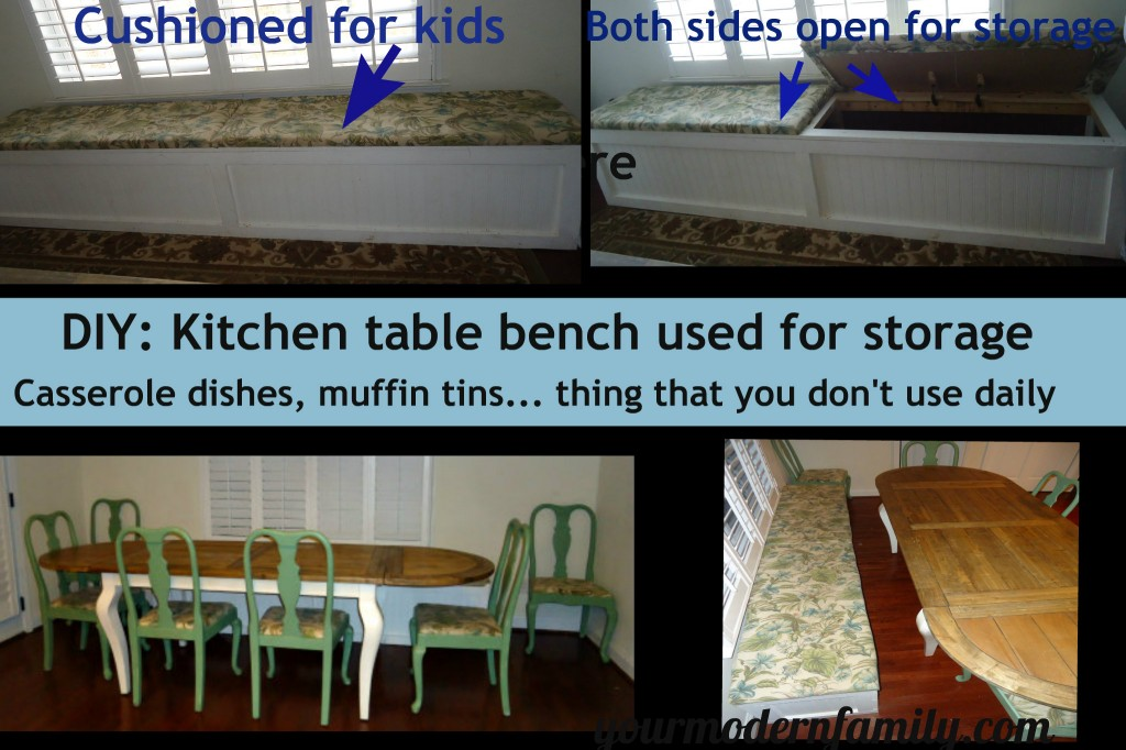 kitchen bench storage