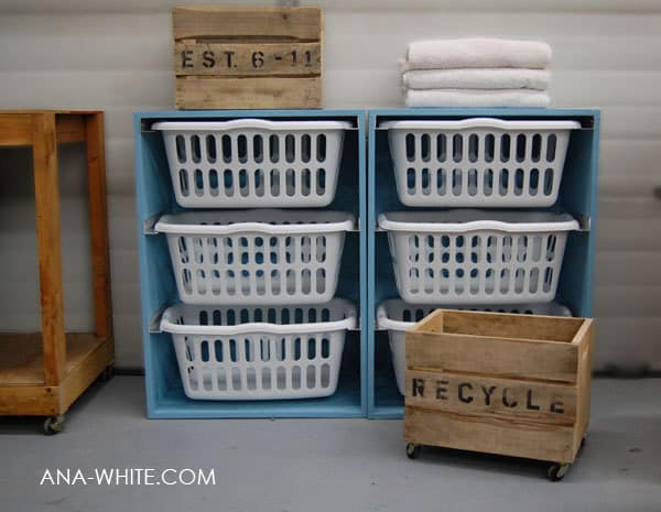 cabinet would make a beautiful way to keep your baskets organized