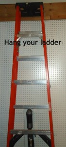 organize your garage ladder