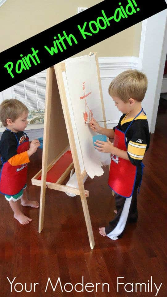 Make paint with Kool-aid! (It makes a scented water-color paint!)