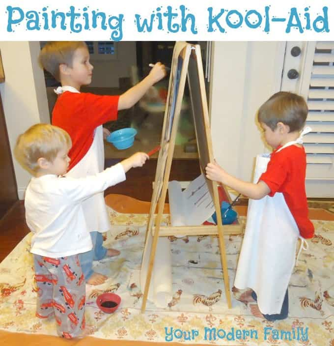 painting with kool-aid