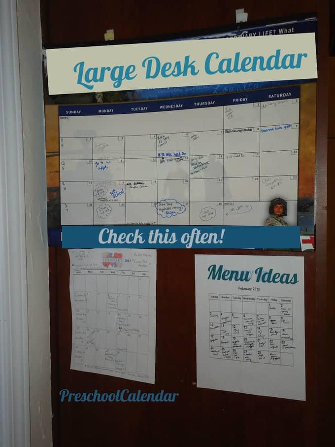 Calendar Ideas For Home : Home command center calendar your modern family