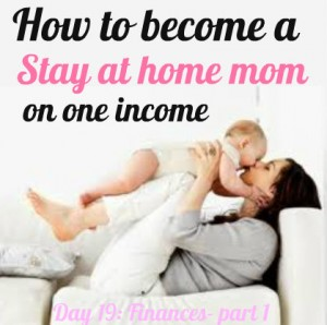 How to become a stay at home mom on one income - One Mom's REAL tips for saving money to stay home - going from 2 incomes to one