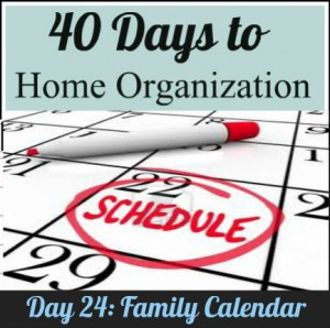 Organize your family calendar