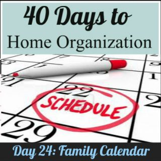 Day 24: Organize your family calendar