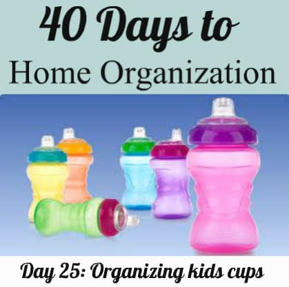 Organizing kids cups