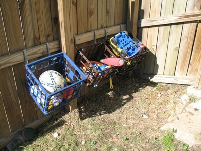 Organizing outdoor toys 2