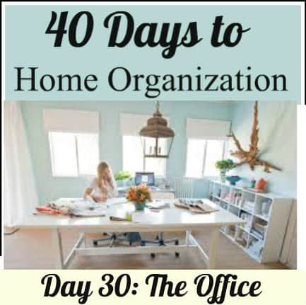 Organized Home Office Supply Concept