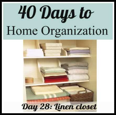 Organizing Your Linen Closet 1