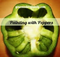 Painting shamrocks with peppers