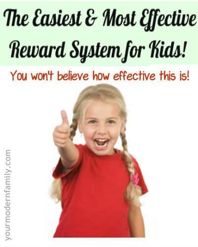 Best-ever reward system for kids