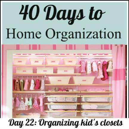 Tips on organizing kids closets