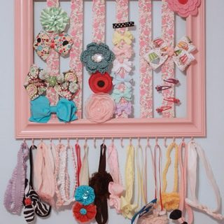 Day 23: DIY hair bow organizer
