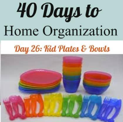 Organizing kids plates