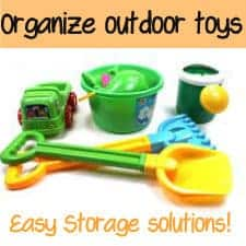TONS of tips for organizing outdoor toys