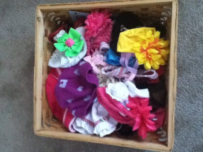 DIY hair bow organizer
