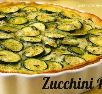 A pan of Zucchini pie.