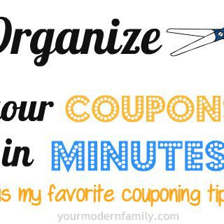 Day 37: Keeping your coupons organized (& some tips for coupon shopping)