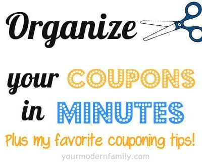 Keeping your coupons organized
