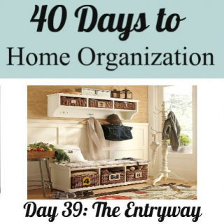 Day 39: Organizing the Entryway