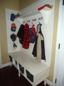 Organizing your entry DIY bench
