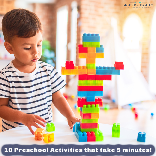 Preschool Lesson Plan in Five Minutes