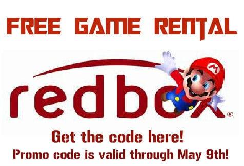 Free Redbox Game Rental Code 2013