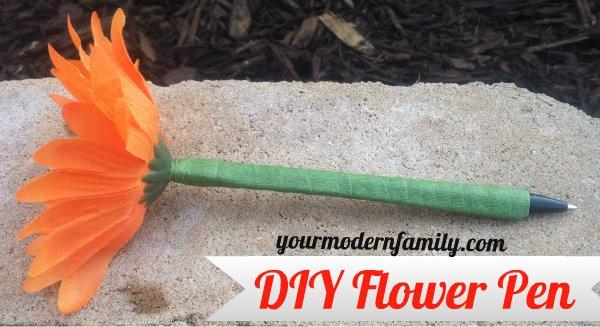 Diy Flower Pens Your Modern Family
