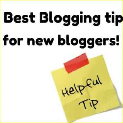 best blogging tip for new bloggers