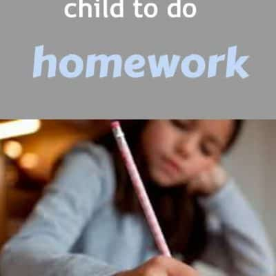 encouraging kids to do homework