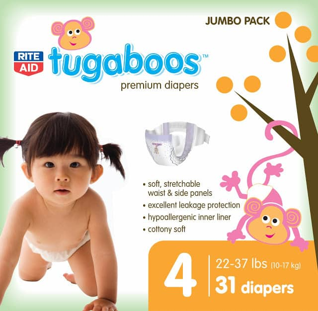 A jumbo pack of tugaboo diapers from Rite Aid.