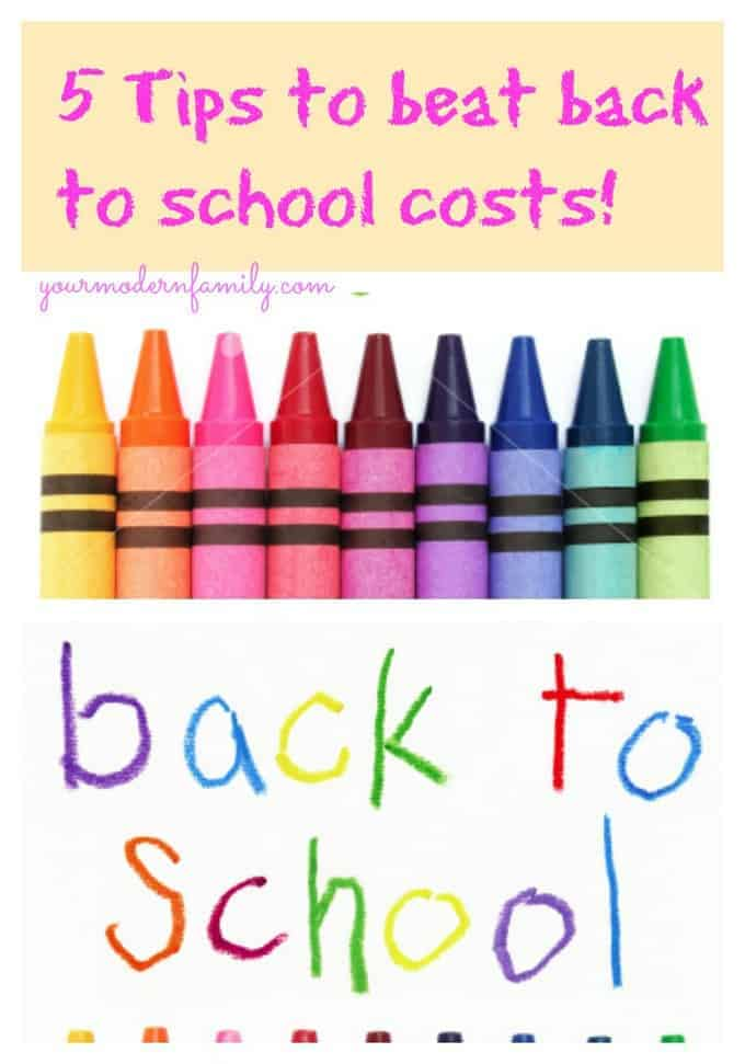 beat back to school costs