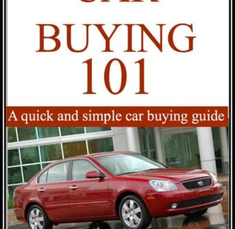 A book with a picture of a car and text above it.