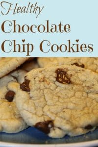 The much healthier (& much tastier) Chocolate Chip cookies - these are so great that our kids prefer them over any other cookie!