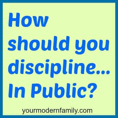 discipline in public